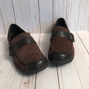 B.O.C. Leather/suede brown loafers size 6.5